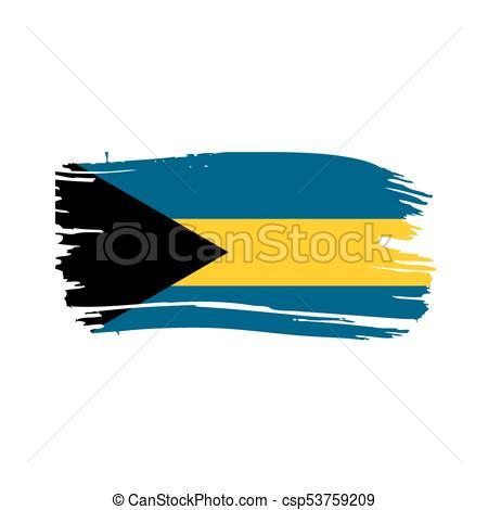 450x470 Bahamas Flag, Vector Illustration On A White Background Vector