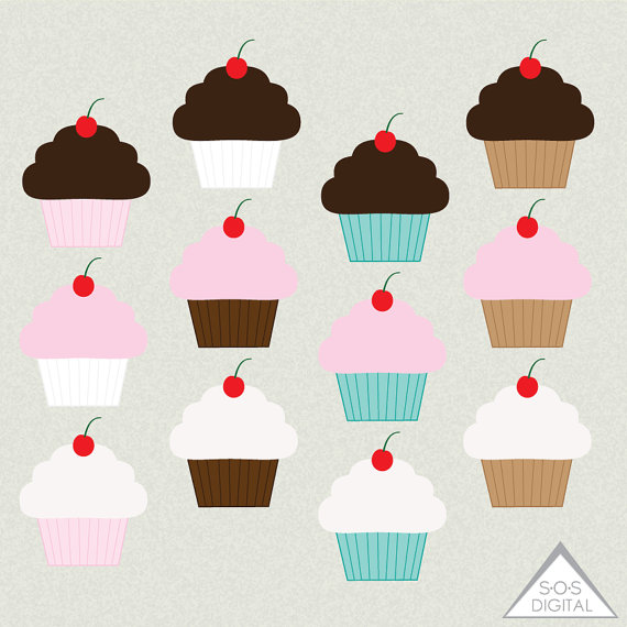 570x570 Cupcake Clipart, Cute Cupcakes, Chocolate Cupcake, Strawberry