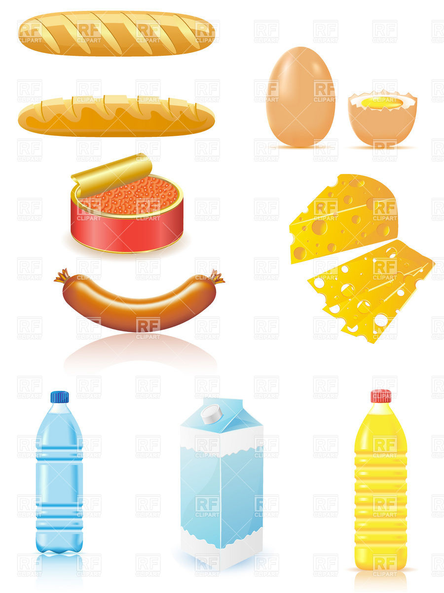 900x1200 Dairy Products And Baked Goods Royalty Free Vector Clip Art Image