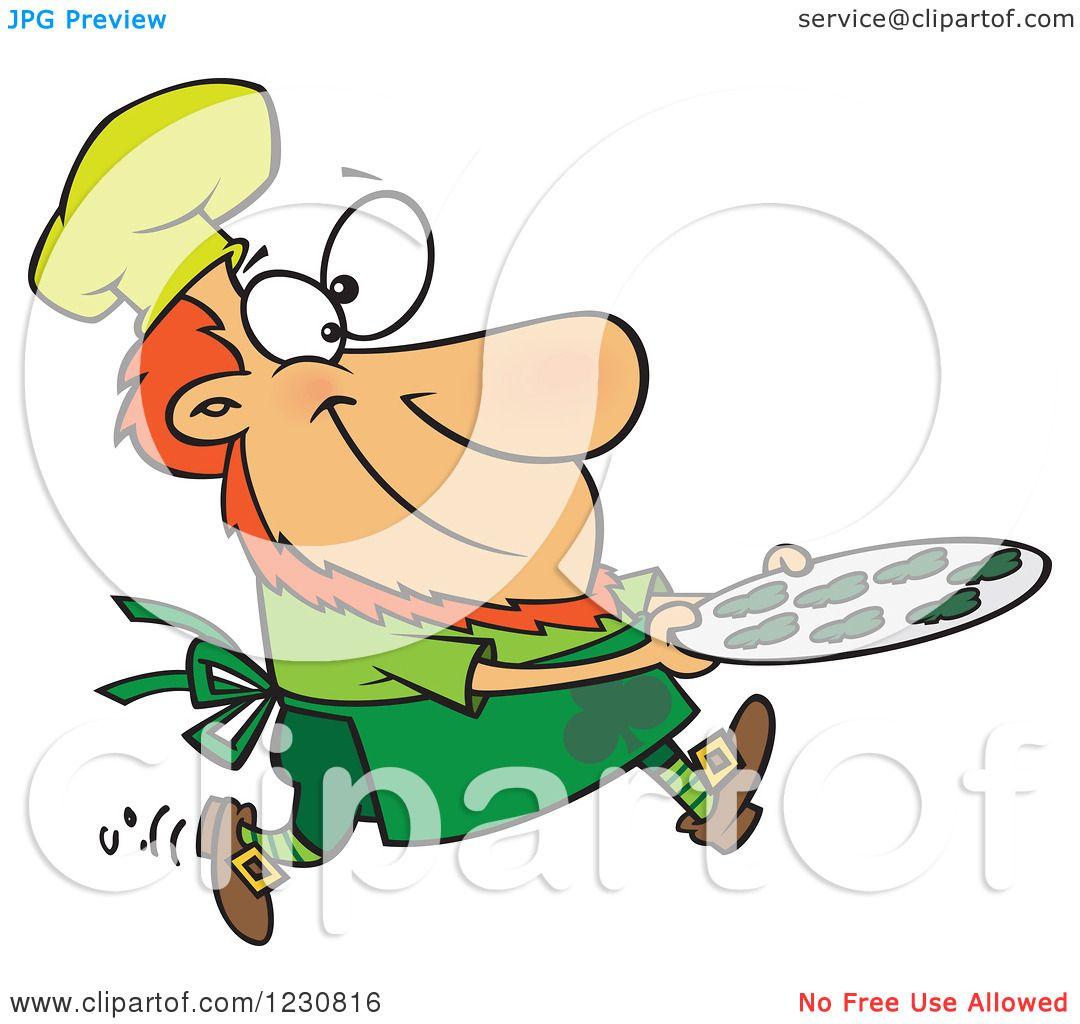 1080x1024 Clipart Of A Cartoon St Patricks Day Baker Leprechaun
