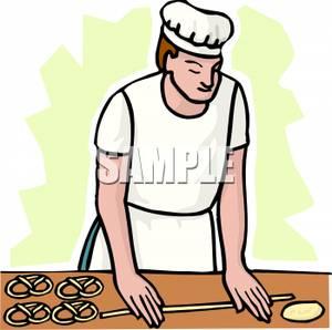 300x298 A Baker Making Pretzels