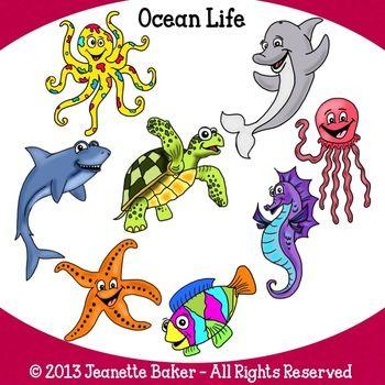 350x350 Fancy Ocean Life Clipart Ocean