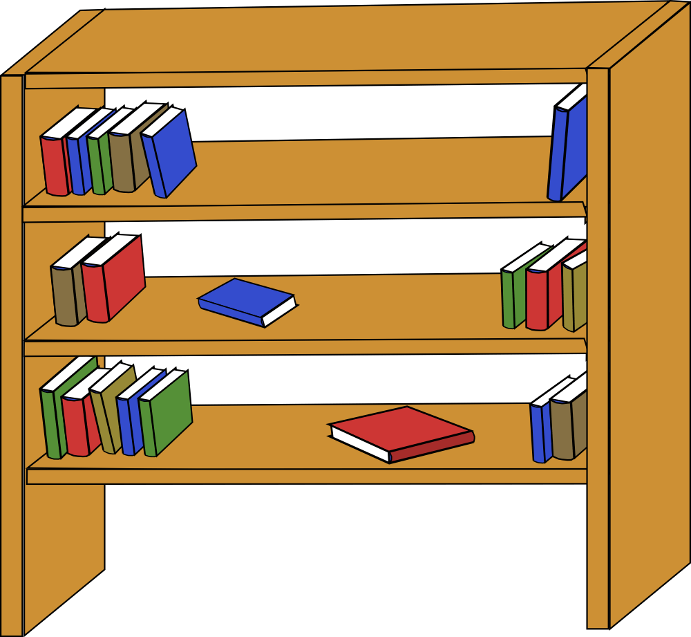 1000x921 Books On Shelf Clipart Clipart Panda Free Clipart Images, Shelves