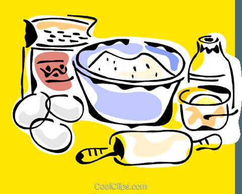 480x384 Baking Ingredients Royalty Free Vector Clip Art Illustration