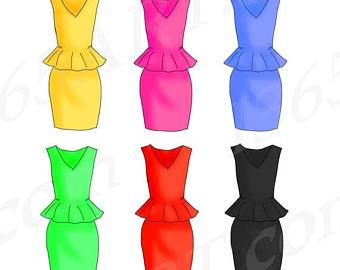 340x270 Dress Clipart Digital Dresses Fashion Dress Clip Art Evening