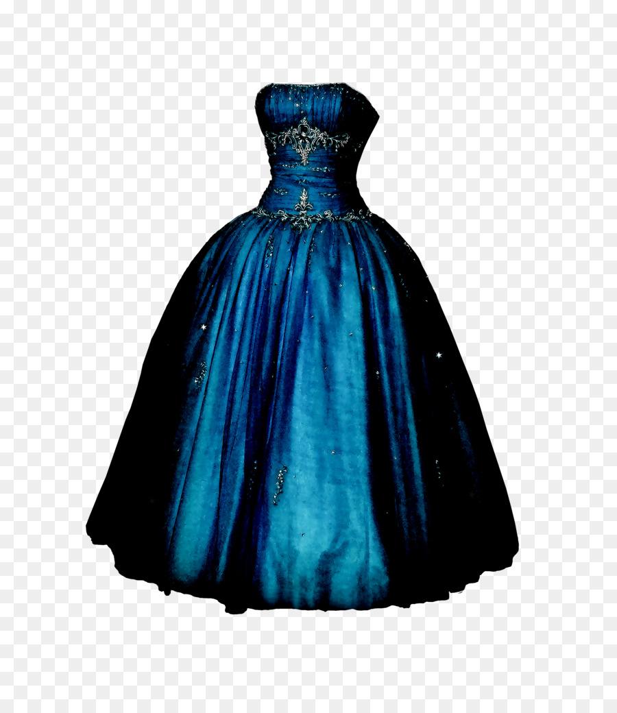 900x1040 Dress Gown Blue Clip Art
