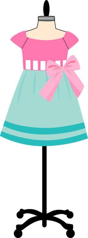 286x772 9 Best Pink Dress Clipart Images On Cartonnage, Dress