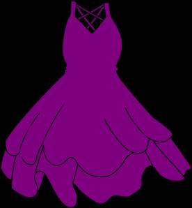 276x298 Purple Dress Clip Art