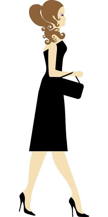 360x720 Black Dress Cliparts