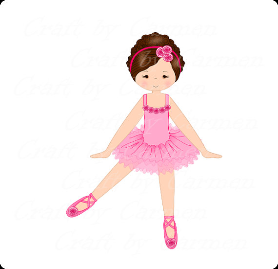 570x550 Ballerina Clip Art, Dancer, Ballet Digital Art, Scrapbook