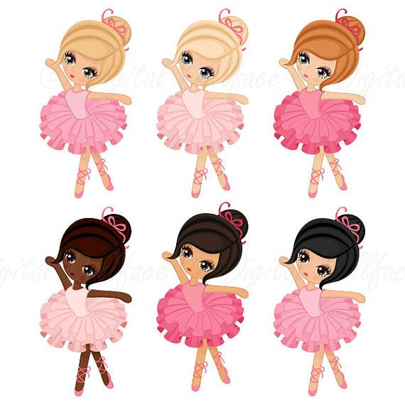 570x570 Ballerina Clipart Tutu Ballet Clip Art By Digitaldollface Art
