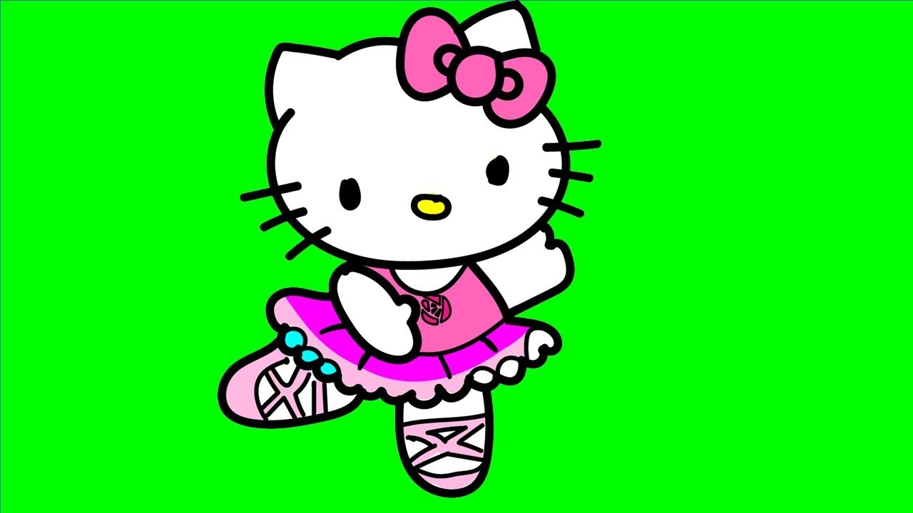 1280x720 how to color hello kitty ballet dancer coloring pages for kids