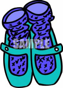 214x300 Clipart Image Socks And Ballet Shoes