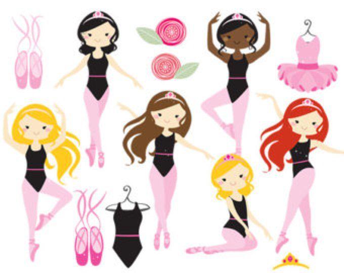 680x540 Ballerina Clipart, Ballet Clipart, Pink Ballerina, Girl Dancing