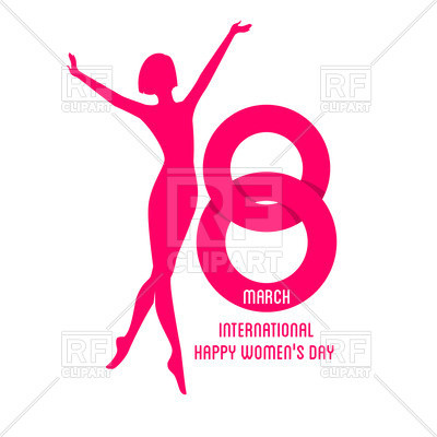 400x400 Beautiful Ballet Dancer Clipart Happy Women Day Silhouette
