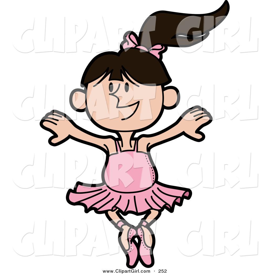 1024x1044 Clip Art Of A Dancing Caucasian Ballerina In A Pink Tutu