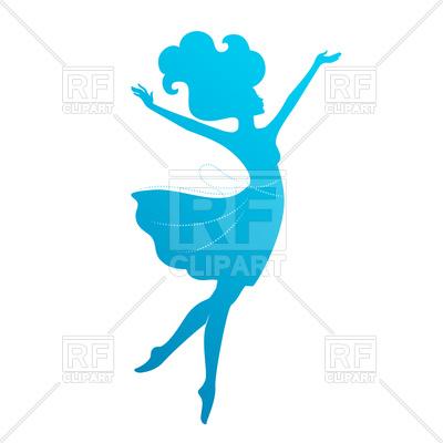 400x400 Silhouette Of Beautiful Dancing Woman Royalty Free Vector Clip Art