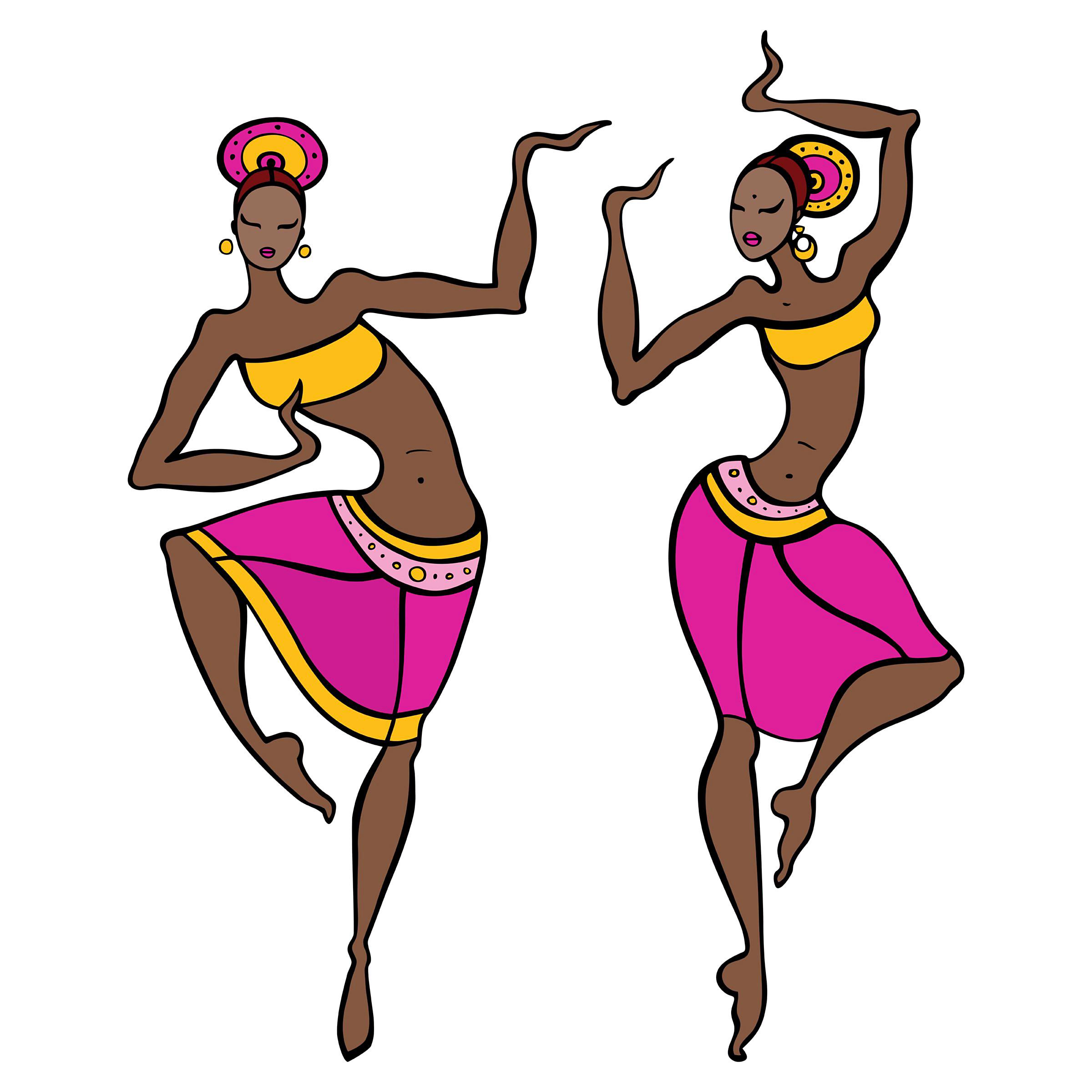 2400x2400 African Dance Clipart