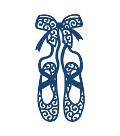236x267 Ballet Slippers Ballerina Shoes Child Silhouette Die Cut For Scrap
