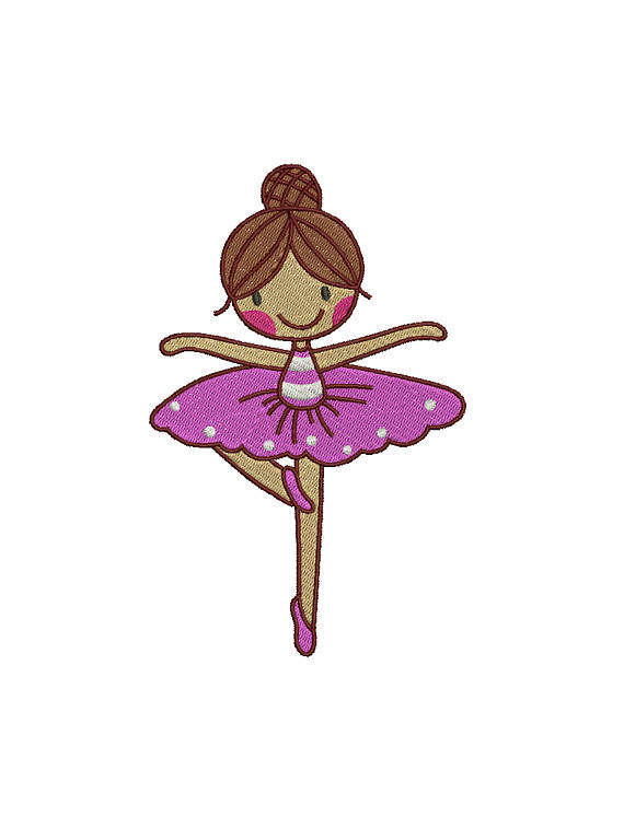 570x747 Cute Ballet Slippers Shoes Illustration Embroidery Design