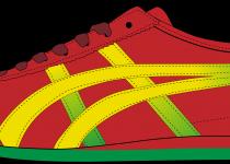 210x150 Yellow Shoe Print Clip Art