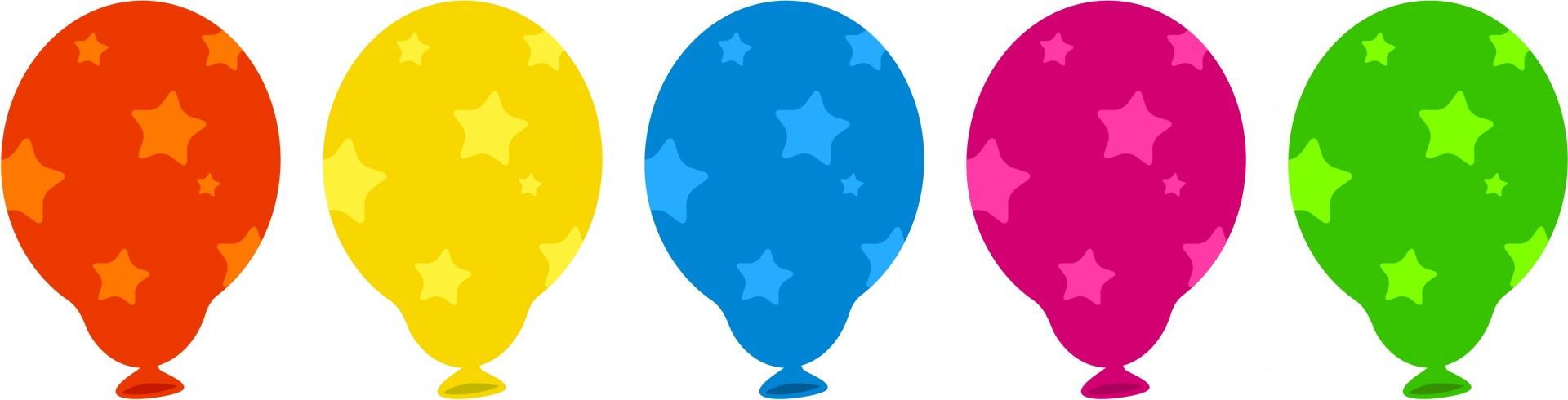 1920x490 Colourful Balloons Clip Art Free Stock Photo