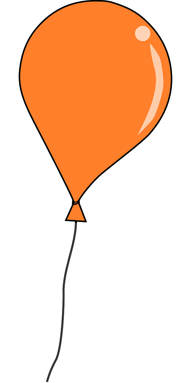 640x1280 Free Orange Balloon Clip Art Clipart Panda