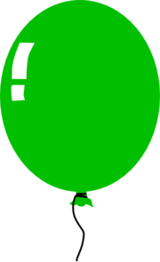 180x295 Green Balloon Clip Art