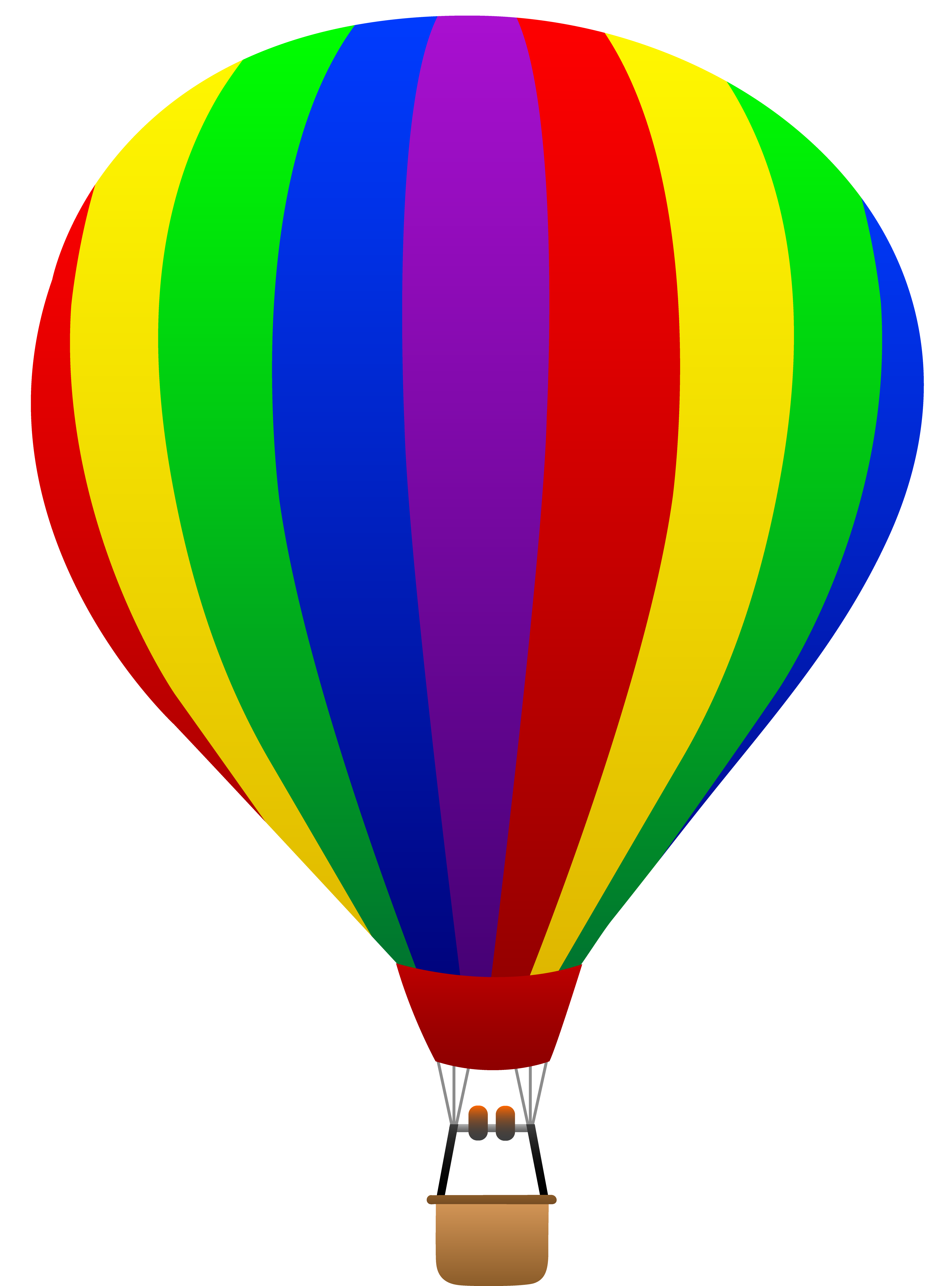 4114x5559 Trend Cartoon Hot Air Balloon Images Rainbow Striped Free Clip Art