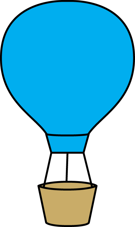 446x747 Blue Hot Air Balloon Clip Art