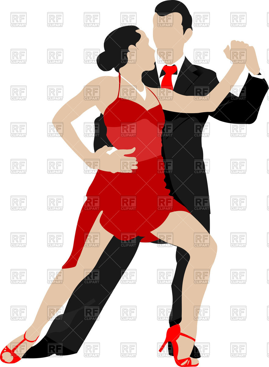881x1200 Couple Of Dancers Dancing Tango Royalty Free Vector Clip Art Image
