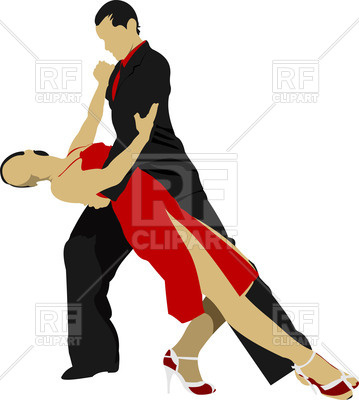 359x400 Tango Dancers Royalty Free Vector Clip Art Image
