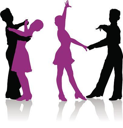 406x422 Fancy Ballroom Dancing Clipart