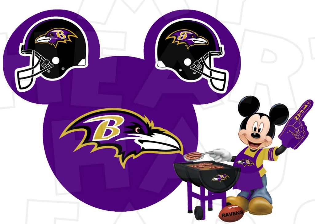 1024x728 Baltimore Ravens Football With Mickey Mouse Instant Download