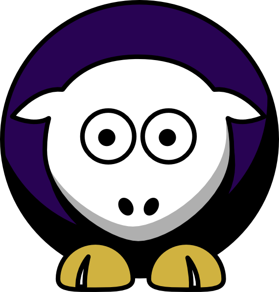 570x598 Sheep 4 Toned Baltimore Ravens Colors Clip Art