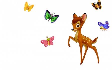 450x281 Bambi Clipart Butterfly