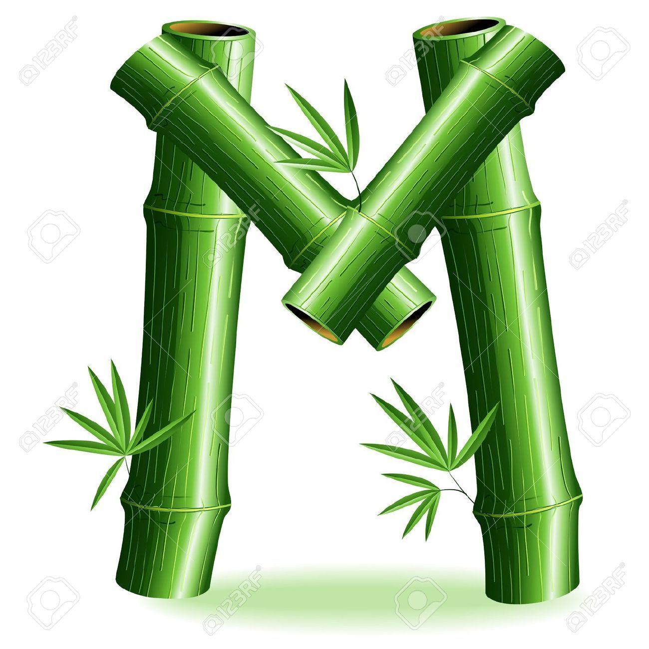 1300x1300 Bamboo Logo Brief Sign M Lizenzfrei Nutzbare Vektorgrafiken, Clip