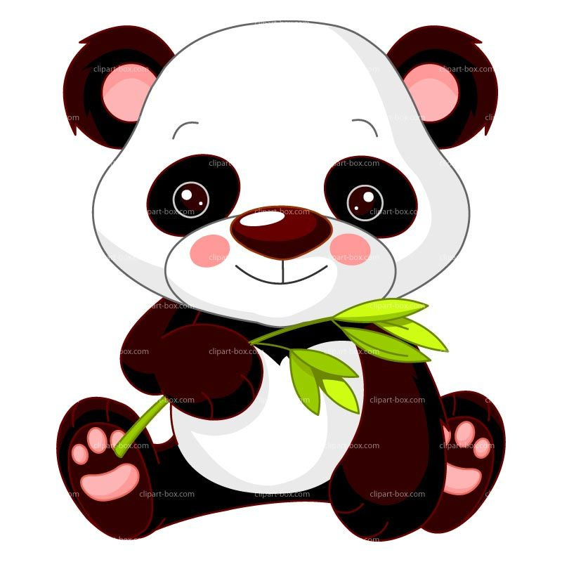 800x800 Clipart Baby Panda With Bamboo Royalty Free Vector Design