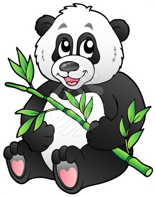 317x400 Clip Art Cartoon Panda Eating Clipart Panda