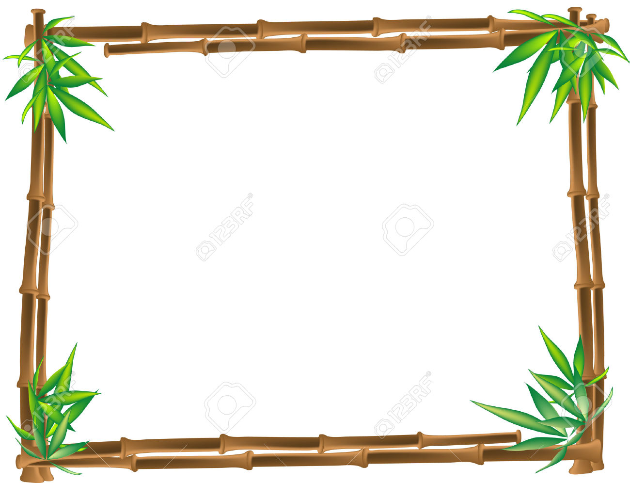 1300x996 Dazzling Bamboo Borders Clipart Border Pencil And In Color