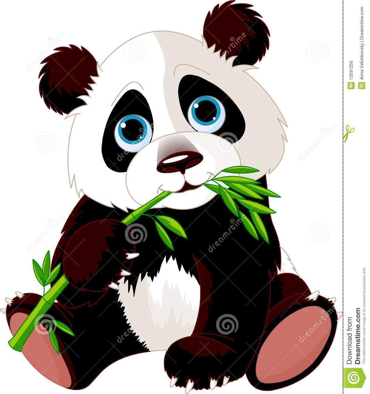 1221x1300 Panda Eating Bamboo Royalty Free Stock Image
