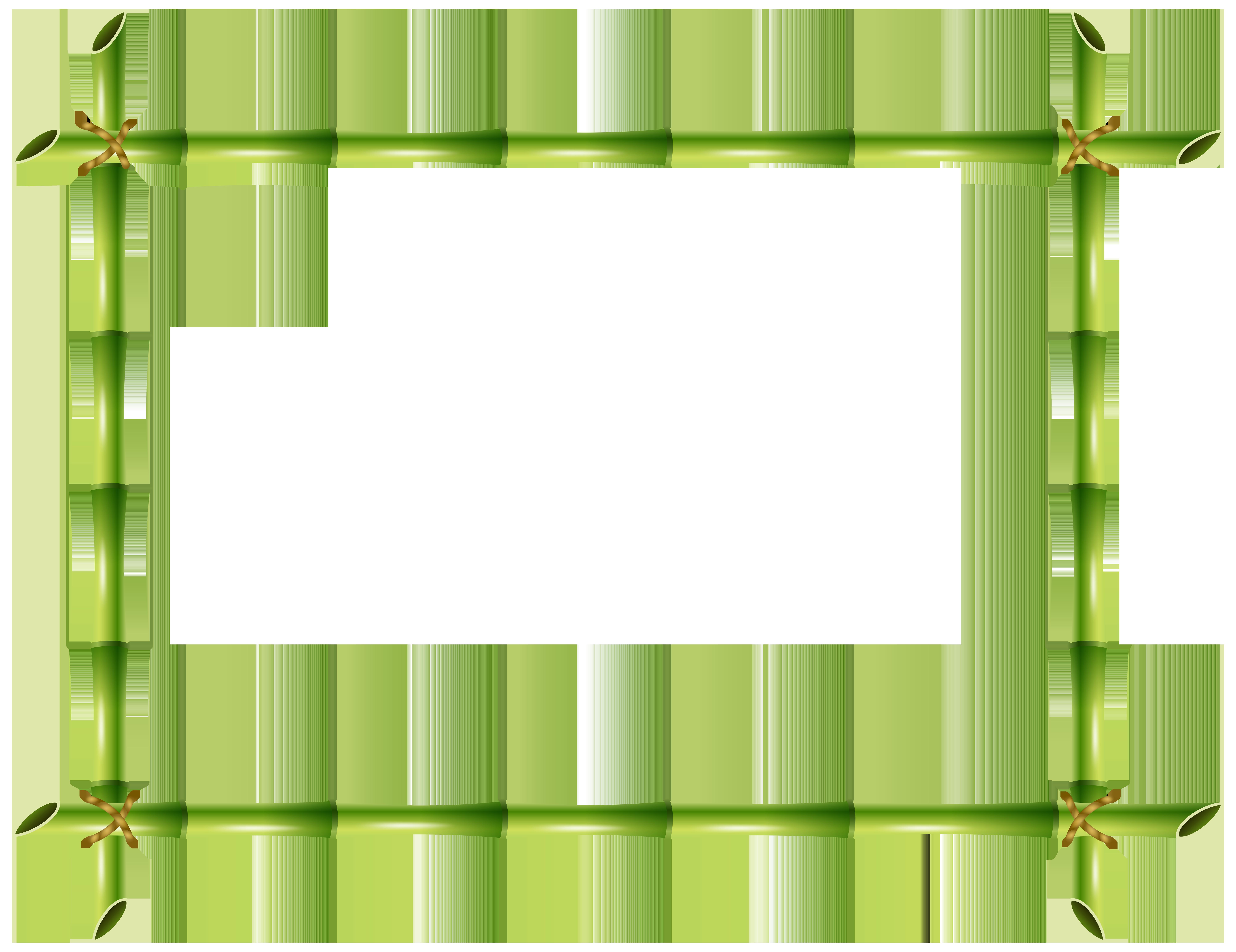 8000x6163 Bamboo Frame Png Transparent Clip Art Imageu200b Gallery