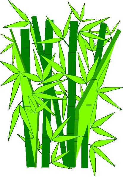 414x595 Bamboo Green Clip Art