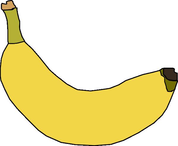 600x494 Banana Clip Art Free Vector 4vector