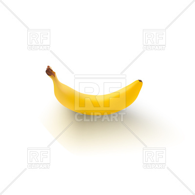 400x400 Banana Icon Isolated Background Royalty Free Vector Clip Art Image