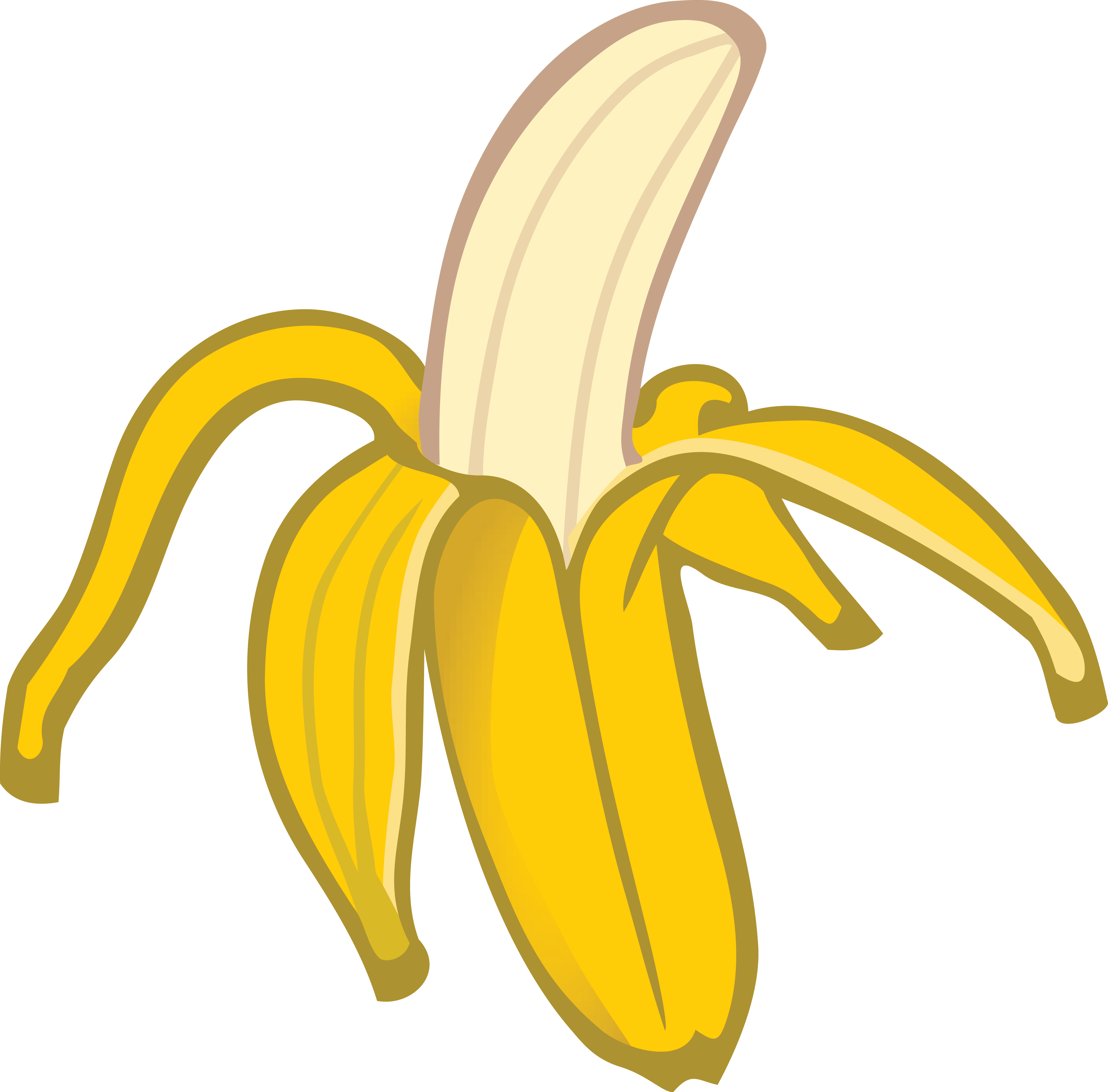 4000x3941 Free Clipart Of A Banana