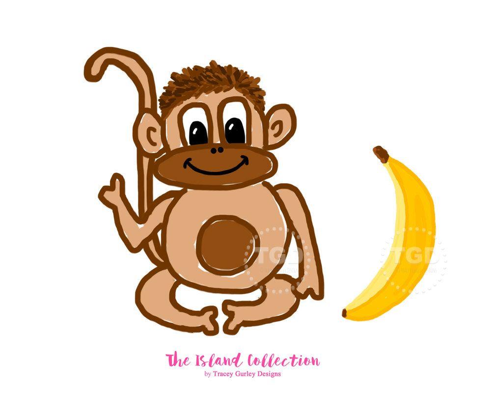 1000x800 Monkey And Banana Clip Art