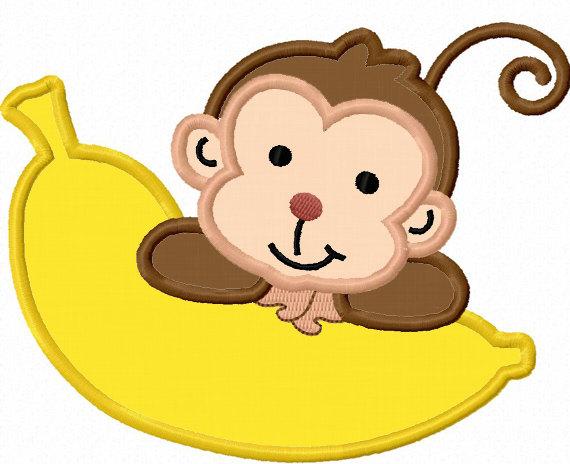 570x464 Monkey With Banana Clipart