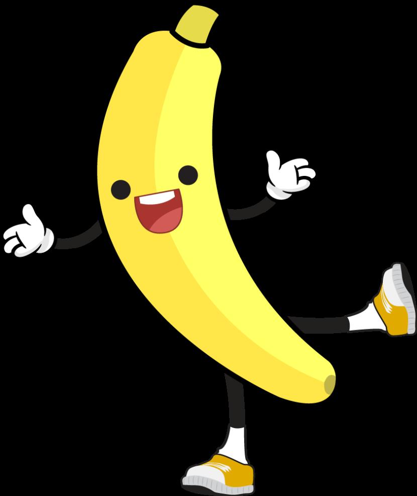 830x987 Banana Clipart