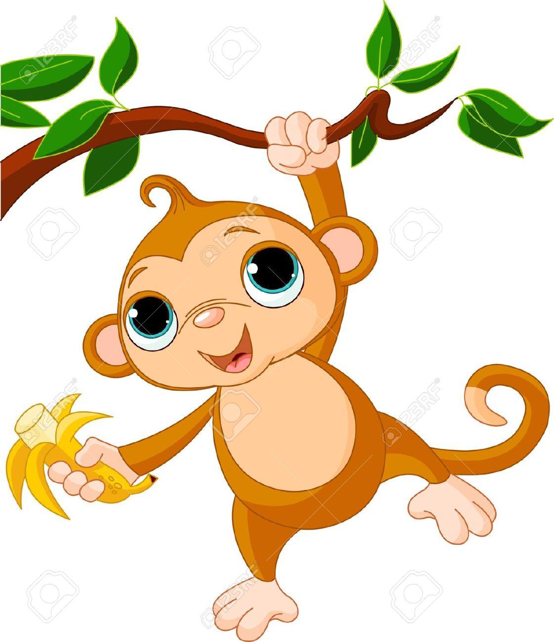 1121x1300 Baby Monkey In Tree Clipart